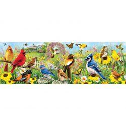 Eurographics 1000 db-os panoráma puzzle - Garden Birds - 6010-5338
