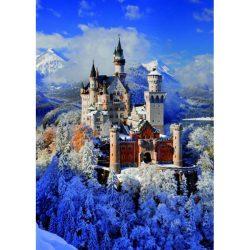 Puzzle 1000 db-os - Neuschwanstein kastély télen - Piatnik