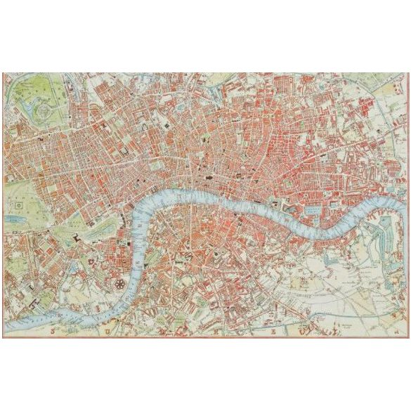 Puzzle 1000 db-os London térkép 1831 - Piatnik