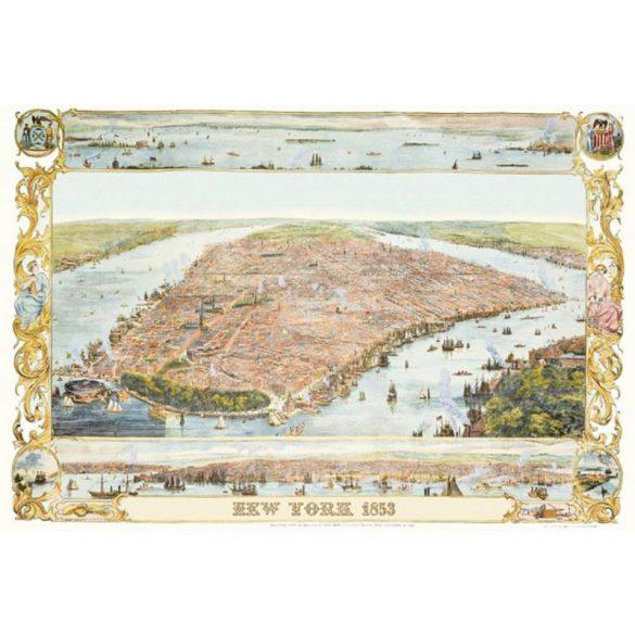 Puzzle 1000 db-os New York térkép Piatnik