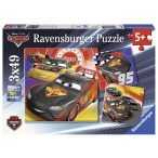 Ravensburger 3 x 49 db-os puzzle - Verdák - Carbon Racers 08001