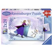 Ravensburger 2x24 db-os puzzle - Jégvarázs: Testvérek örökre 09115