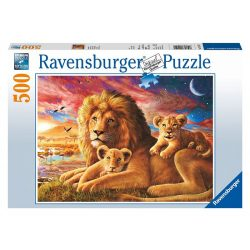 Ravensburger 500 db-os puzzle - Oroszláncsalád 14252
