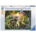 Ravensburger 500 db-os puzzle - Farkascsalád 14745