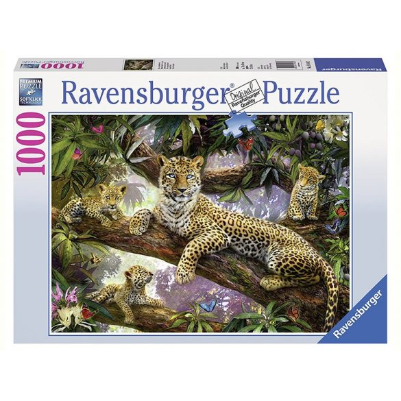 Ravensburger 1000 db-os puzzle - Büszke leopárdmama 19148