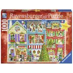 Ravensburger 1000 db-os puzzle - Kiskedvencek karácsonya 19735