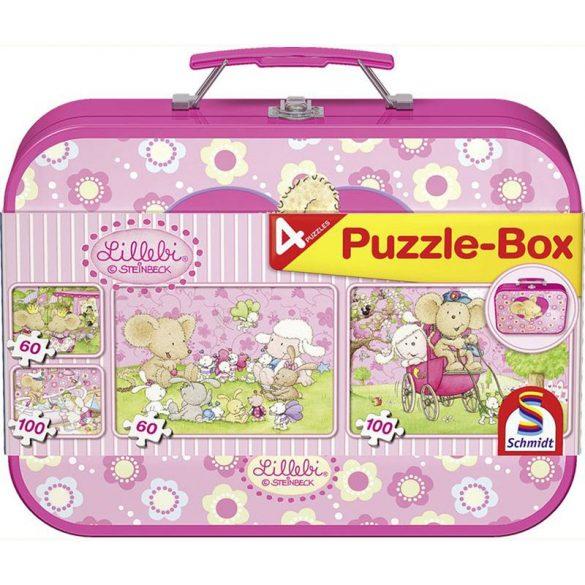 Puzzle-Box 2x60 és 2x100 db-os - Lillebi puzzle box 4 kirakóval - Schmidt