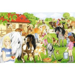 Puzzle 60 db-os - Fun at the Riding Stables - Schmidt (56205)