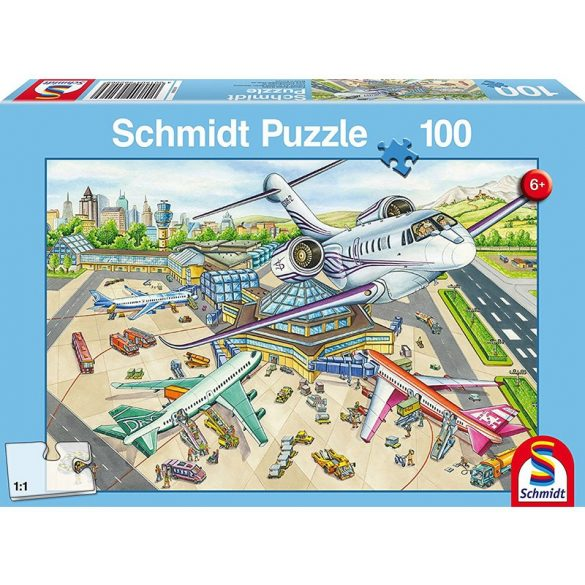 Puzzle 100 db-os - A Day at the Airport - Schmidt