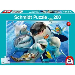 Puzzle 200 db-os - Vízalatti barátok - Schmidt 56360