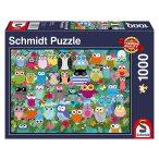 Puzzle 1000 db-os - Bagoly kollázs II - Schmidt 58332