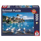 Puzzle 1000 db-os - Tóparti hattyúk - Schmidt 58367