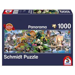 Panoráma Puzzle 1000 db-os - Csodálatos állatvilág - Schmidt 58384