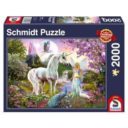 Puzzle 2000 db-os - Tündér és az Unikornis- Schmidt 58951