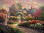 Puzzle 1000 db-os - Cottage im Rosengarten - Thomas Kinkade-Schmidt