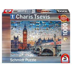 Puzzle 1000 db-os - London - Charis Tsevis - Schmidt 59579