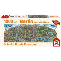 Panoráma Puzzle 1000 db-os - Hartwig Braun: Berlin - Schmidt 59594