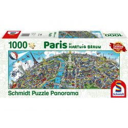 Panoráma Puzzle 1000 db-os - Hartwig Braun: Párizs - Schmidt 59597