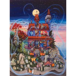 Sunsout 1000 db-os puzzle - Kathy Jakobsen -  The Ghost and the Haunted House 60877