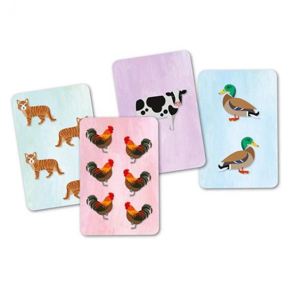 Cridanimo Állati hangos kártyajáték - Djeco