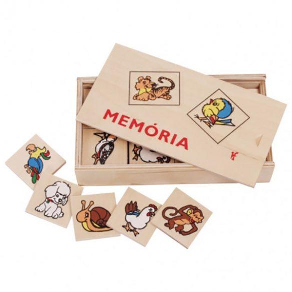 Fa memóriajáték állatos (0142)