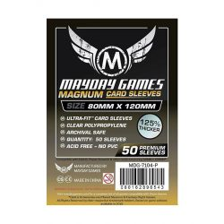 Mayday Games Prémium Magnum kártyavédő 80 x 120 mm - 50 db-os, fekete hátlap (MDG-7104)