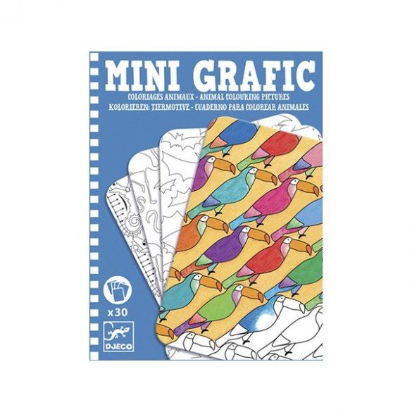 Mini Grafic Állatos Színező - Djeco