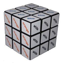 Rubik 3x3x3 színes szöveg kocka