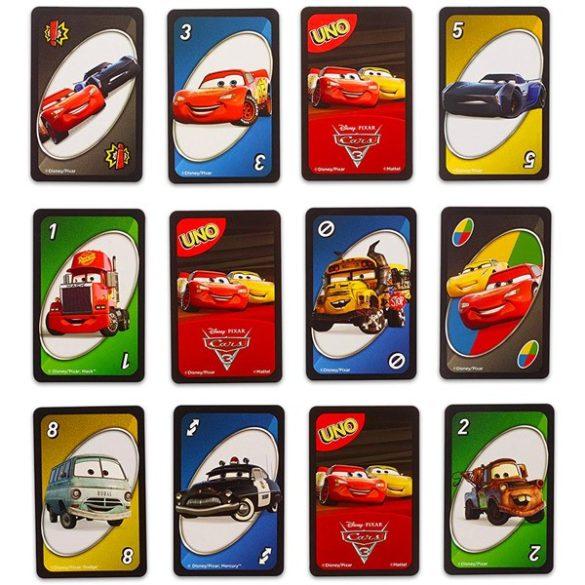 Verdák 3 UNO kártyajáték - Mattel